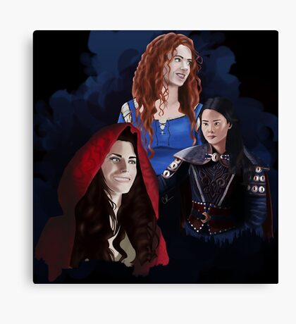 Warrior Women of Once Upon a Time Canvas Print