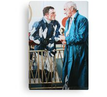 The Long Blue Coat Canvas Print