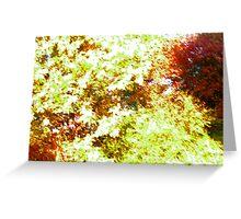 Foliage Pattern Greeting Card