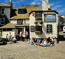 The Sloop Inn, St. Ives, Cornwall in 1990. by David A. L. Davies
