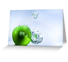 Green Apple and Bubbles Greeting Card
