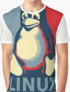 Linux tux penguin obama poster Graphic T-Shirt