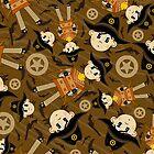 Cute Poncho Cowboy Pattern Illustration by MurphyCreative