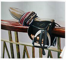Racing Saddle Poster