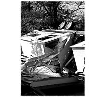 Damage from a tornado October 18 ,2007 Photographic Print