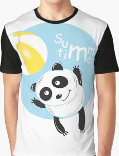 Summer panda. Graphic T-Shirt