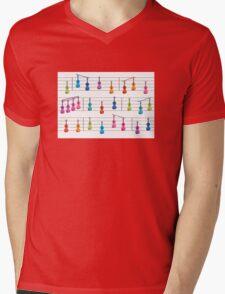 Colourful Violin Notes Mens V-Neck T-Shirt