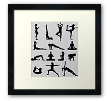 Yoga Poses Merchandise Framed Print
