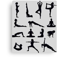Yoga Poses Merchandise Canvas Print