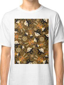 Cute Poncho Cowboy Pattern Illustration Classic T-Shirt