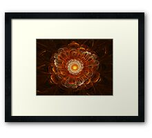 Orange 3D Bloom Framed Print