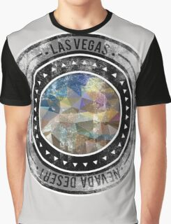 Distressed Geometric Las Vegas Cityscape  Graphic T-Shirt