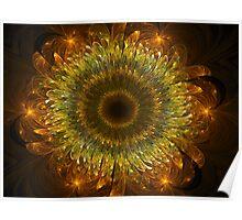 3D Bloom Sunflower Poster