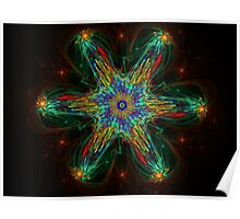 Colorful 3D Bloom Poster