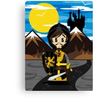 Cute Medieval Crusader Knight  Canvas Print