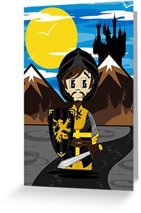 Cute Medieval Crusader Knight  by MurphyCreative