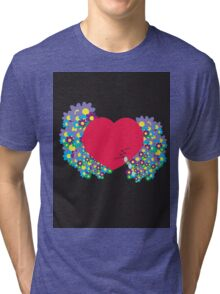 Crying Heart Tri-blend T-Shirt