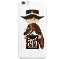 Cute Cowboy Sheriff in Poncho iPhone Case/Skin