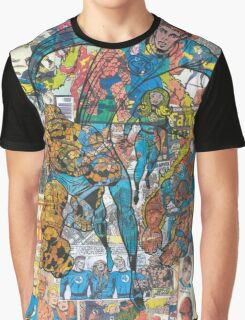 Vintage Comic Fantastic Four Graphic T-Shirt