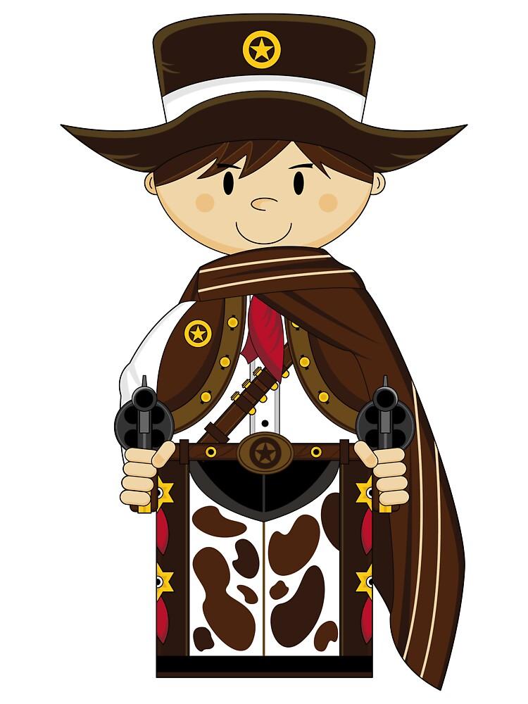 Cute Cowboy Sheriff in Poncho by MurphyCreative
