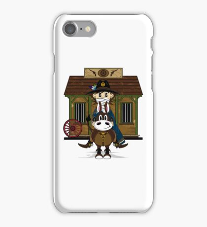 Cute Cowboy Sheriff at the Jailhouse iPhone Case/Skin