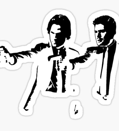 Winchesters - Pulp Fiction Sticker