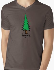 Tree Hugger Mens V-Neck T-Shirt