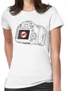 Canon 7D with AGC disable Womens Fitted T-Shirt