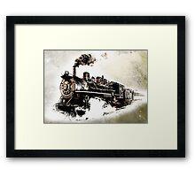 Vintage Steam Train Framed Print