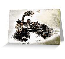 Vintage Steam Train Greeting Card