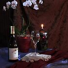 KJ Chardonnay with Orchid and Oil Lamp by FrankSchmidt