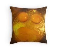 Botox eggs. Throw Pillow