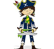 Cute Little Pirate Captain by MurphyCreative