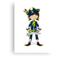 Cute Little Pirate Captain Canvas Print