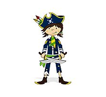 Cute Little Pirate Captain Photographic Print