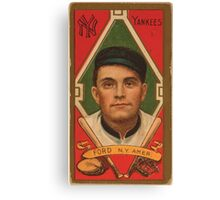 Benjamin K Edwards Collection Russell Ford New York Yankees baseball card portrait 001 Canvas Print
