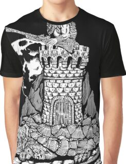 Viking Castle Turtle Graphic T-Shirt