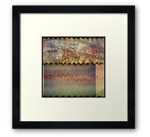 the fall and the fire Framed Print