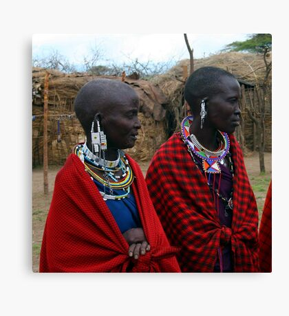 Massai Wives of the Serengeti Canvas Print
