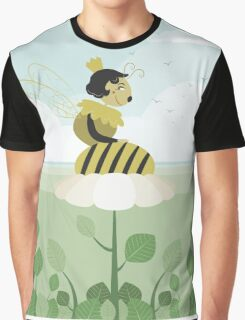 Queen bee resting on a flower Graphic T-Shirt