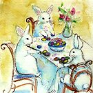 Bunnies coloring Eggs by Robin Spring Bloom
