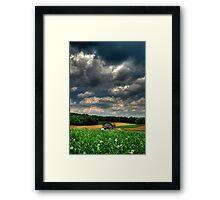 Brooding Sky Framed Print