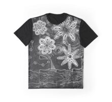 Floral Monprint and Ink Tangle 1 Graphic T-Shirt