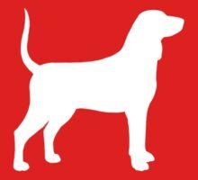 Bluetick Coonhound Silhouette(s) Kids Tee