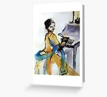 Quill Writer Greeting Card