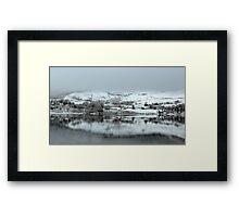Highland Village in the Winter Framed Print