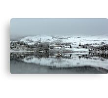 Highland Village in the Winter Canvas Print