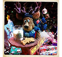 A Moose Ready With Santa's Cookies! Photographic Print