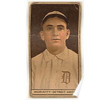 Benjamin K Edwards Collection George Moriarty Detroit Tigers baseball card portrait 002 Poster