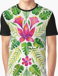 Tropical Symmetry – Pink & Green Graphic T-Shirt